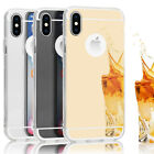 iPhone X Reflection Case by NALIA, Ultra-Thin Shiny Protective Selfie Silicone Cover