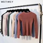 Best Women's Pullover Sweater Long Sleeve T shirt Outfit Pink Sweater For Women