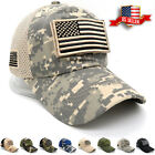 Baseball Cap USA American Flag Hat Detachable Mesh Tactical Military Army Style