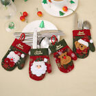 Christmas Gloves Cutlery Cover Christmas Party Decoration Xmas Table Ornament GX