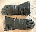 Harley Davison Winter Leather Motorcycle Riding Gloves Thinsulate EUC Size L