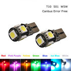 T10 5050 W5w 501 5 Smd Led Bulbs Car Interior Lights Side Lamp Wedge Capless New