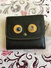 NWT COACH BEAR COATED CANVAS BLACK SMALL TRI-FOLD SMALL WALLET