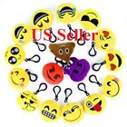 "10/20pcs 2"" Cute Emoji Plush Keychain Mini Pillows Hand Bag Purse Face Emotion"