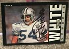 RANDY WHITE DALLAS COWOYS 1986 TOPPS AUTOGRAPHED SIGNED CARD HALL OF FAME 1994