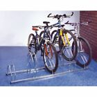 Staggered height floor / wall mounted cycle racks