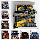 3D Racing Car Quilt Cover Bedding Set Luxury High-speed Rail Comforter Cover Set image