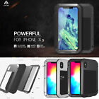 LOVE MEI Waterproof Gorilla Glass Case Metal Armour Cover for iPhone X XR XS Max