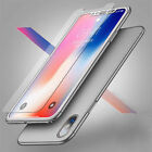 For iPhone X XS XR XS Max Case 360° Shockproof Protective +Tempered Glass Cover