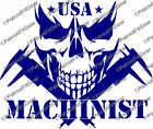 Machinist USA,American Machinist,Calipers,Skull,Micrometers,Sticker,Vinyl decal