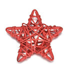 5Pcs Rattan Star Wedding Christmas Party DIY Handcraft Hanging Decorations Toys