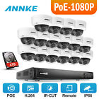 ANNKE 6MP 4/8/16CH H.264 CCTV NVR Dome Security Outdoor IR Camera POE System Kit
