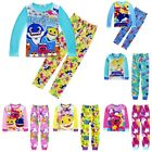New Kids Boys Girls Cute Baby Shark Casual Cartoon Pyjamas Sleepwear Pajamas Set