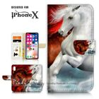 ( For iPhone XS MAX ) Wallet Case Cover P21141 Handsome Horse