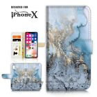 ( For iPhone XS MAX ) Wallet Case Cover P21411 Marble Pattern