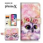 ( For iPhone XS MAX ) Wallet Case Cover P21412 Cute Owl