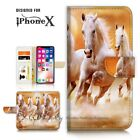 ( For iPhone XS MAX ) Wallet Case Cover P21143 White Horse