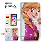 ( For iPhone XS MAX ) Wallet Case Cover P21432 Frozen Anna Elsa