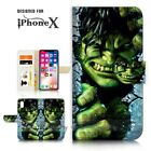 ( For iPhone XS MAX ) Wallet Case Cover P21162 Hulk
