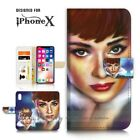 ( For iPhone XS MAX ) Wallet Case Cover P21508 Audrey Hepburn