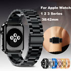 Stainless Steel Strap For Apple Watch iwatch Band 38/42mm Metal Links Bracelet  image