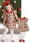 Mud Pie Tartan Jumper With Tughts Girls 12-18 Months Nwt
