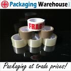 Parcel Tape 48mmx66m Clear Buff Brown Fragile 2