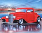 1932 Ford 3 Window Coupe Streetrod Car Art Print w/ Color Options