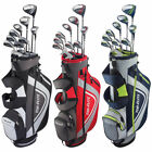 New Top Flite XL Men's Golf Set Bag Headcovers Steel 13 Piece Right Handed
