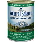 Natural Balance L.I.D. Lamb & Brown Rice Canned Dog Food