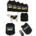 Dog TShirts Shirts Summer  Security Police Costumes Pet Cat Outfits Clothes