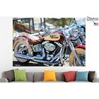 Harley Davidson Poster Canvas Print Bike Wall Art Pin Up Room Decor Home Decor $21.03 CAD on eBay