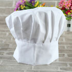 Elastic White Hotel Chef Hat Baker BBQ/Kitchen Cooking Hat Costume Pleated Cap