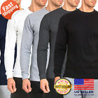 Mens 100% COTTON Medium Weight Thermal Shirts Warm Winter Long Sleeve Fit   image