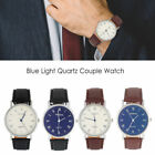 Fashion Mens Leather Watches Stainless Steel Quartz analog wrist Watches CHEAP image