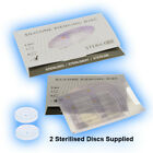 2 Silicone Piercing Disc heal keloid hypertrophic scarring  disk discs No Pull