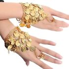 Belly Dance Gold Coin Bracelets Bollywood Hand Bangles Rings Accessories