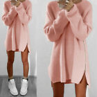 Casual Oversized Women Long Sleeve Knit Cardigan Jumper Tops Loose Sweater Dress