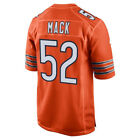 Mens Chicago Bears 52 Khalil Mack Orange 2018 Football Jersey S 3XL