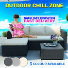 3pc Wicker Rattan Outdoor Corner Garden Modular Sofa Set Lounge Patio Furniture