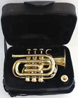 SALE POCKET TRUMPET Bb PITCH BEST QUALITY BRASS W/ FREE CASE & M/P FAST SHIPING