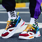Vintage Dorky Dad Shoes for Men Fashion Breathable Casual Sports Shoes Sneakers