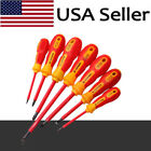 7Pcs Electrical Hand Screwdriver Electrician Insulated Slotted Tool Kit Set US