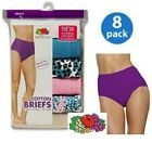 Fruit of the Loom Women's Tagless Cotton Brief Panties 8-Pack