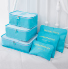 6 Pcs Waterproof Travel Clothes Storage Bags Luggage Organizer Pouch Packing Hot