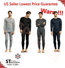 Mens 2 pc Thermal Underwear Set Long Johns Set Knit Top Bottom Set