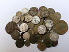 Lot 50 medieval Hungarian coins silve, silvered and bronze 12-17 Century