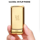 "Smallest Flip Ulcool V9 Phone 1.54""Screen Bluetooth Super Mini Dual Sim Unlocked"
