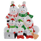 Snowman Shovel Family of 2 To 6 Personalized Ornament for Christmas Tree Decor