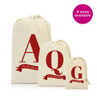 Personalised Letter Christmas Xmas Gifts Gift Sack Bag Stocking for Him Her